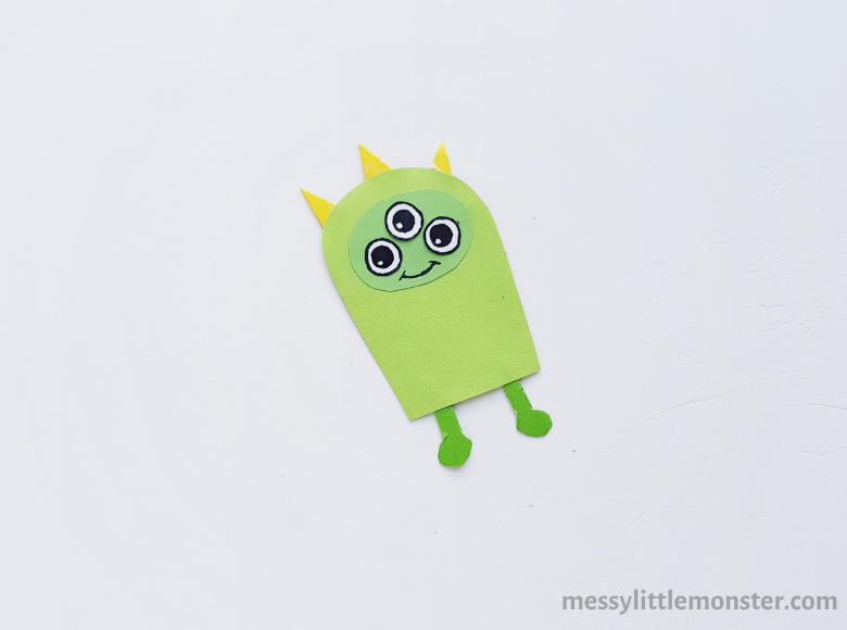Alien stick puppet craft