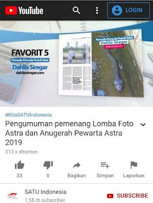 Juara Favorit Anugerah Pewarta Astra 2019