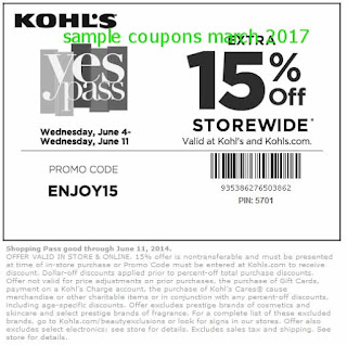 Kohls coupons for march 2017