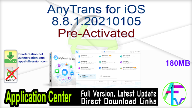 AnyTrans for iOS 8.8.1.20210105 Pre-Activated