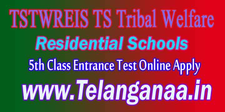 TSTWREIS TS Tribal Welfare 5th Class Entrance Test Online Apply