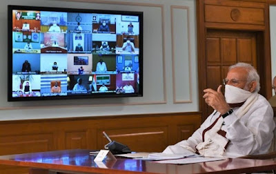PM Narendra Modi interacts with CMs to strategize ahead for tackling COVID-19