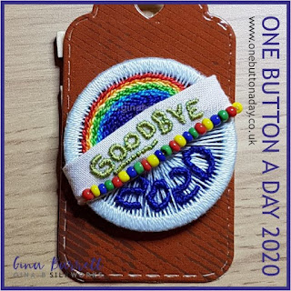 Day 366 : Goodbye 2020 - One Button a Day 2020 by Gina Barrett