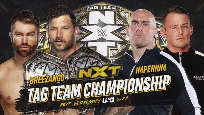 Grande combate por título é anunciado para o próximo WWE NXT