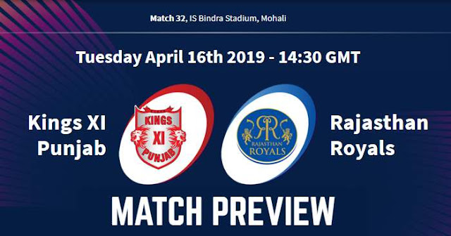 VIVO IPL 2019 Match 32 KXIP vs RR Match Preview, Head to Head and Trivia