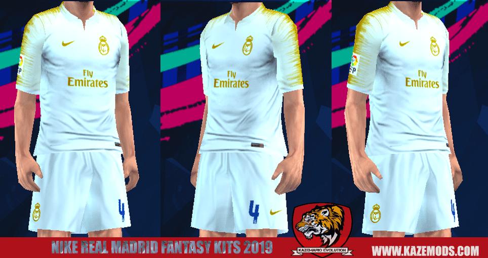 Real Madrid Nike Fantasy Kits 2019 For PES PSP (PPSSPP