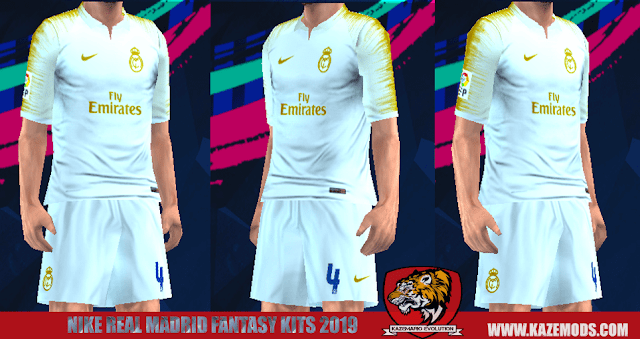 Real Madrid Nike Fantasy Kits 2019 For PES PSP (PPSSPP