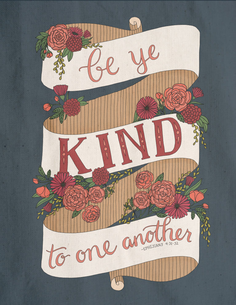 just what i {squeeze} in: Be ye kind to one another - coloring page #22