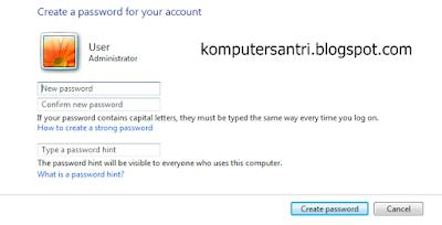 Cara paling mudah memberi Password Komputer dan Laptop