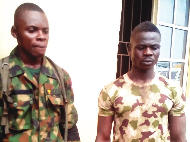 Police arrest two (2) fake soldiers in Rivers