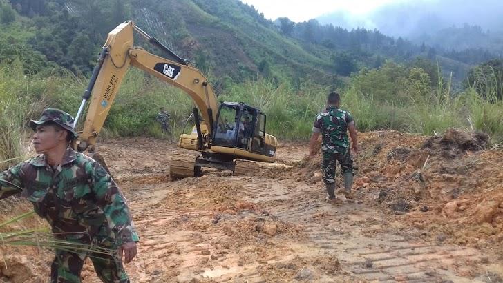 Diguyur Hujan, Pelaksanaan Pra TMMD Rehap Jalan Tetap Dilanjutkan