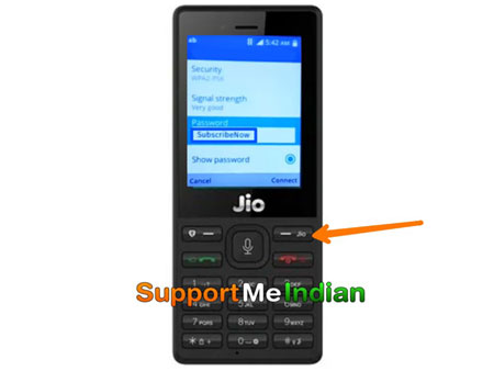 set wifi password in jio phone