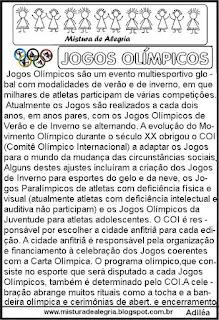 Texto sobre os Jogos olímpicos