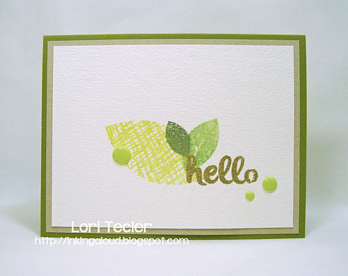 Faux Watercolored Hello-designed by Lori Tecler/Inking Aloud-stamps from Avery Elle