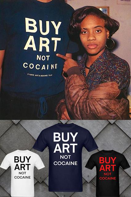 """Buy Art Not Cocaine"" shirt MC Lyte.  PYGear.com"