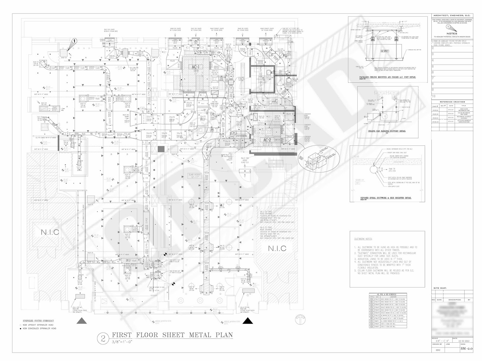 Samples Quickpro Cad Hvac Duct Drawing Commercial Shop Medium Scale Project