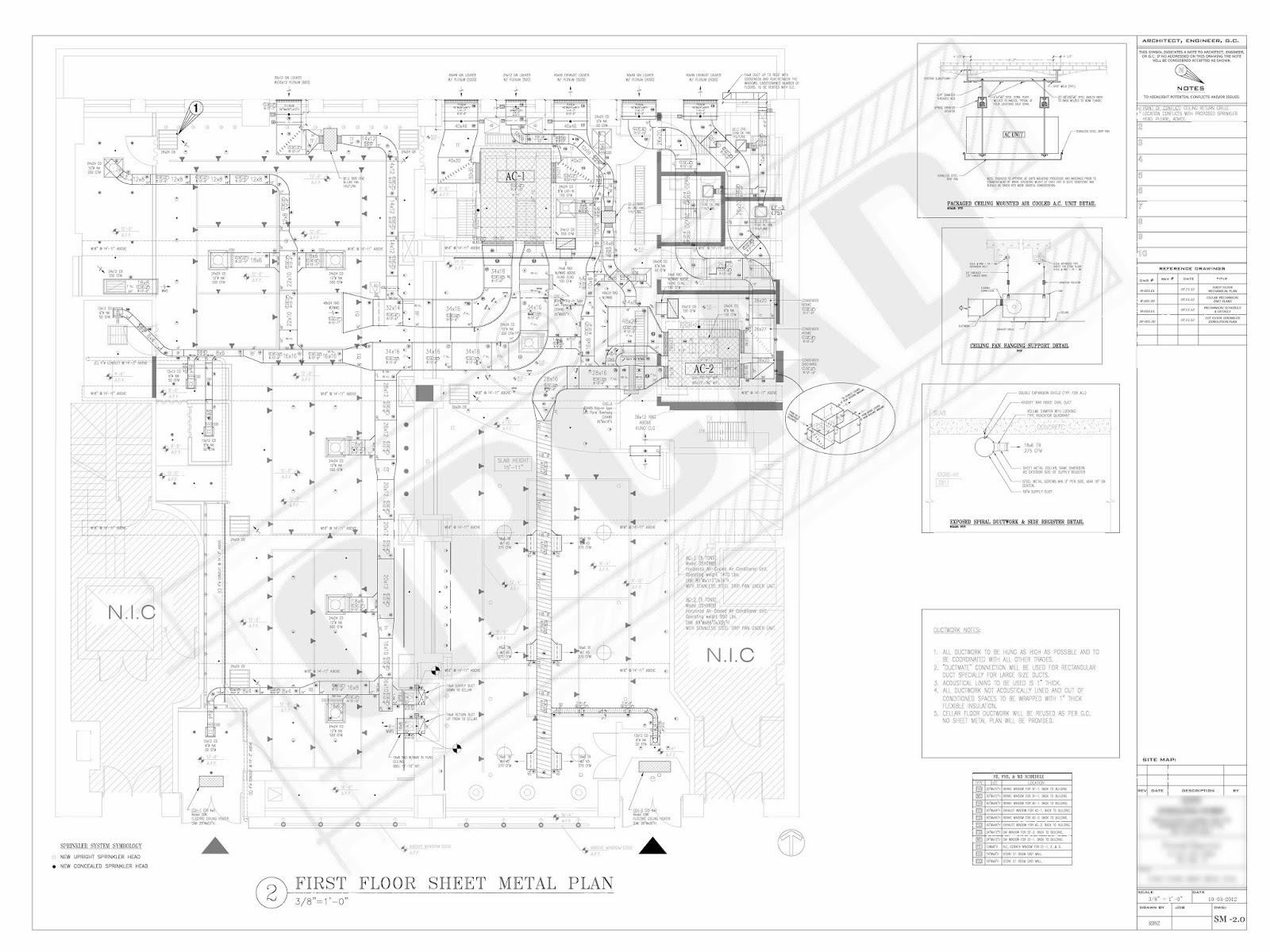 commercial hvac shop drawing medium scale project [ 1600 x 1200 Pixel ]