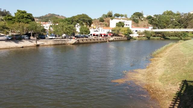 Rio Mira em Odemira com Maré cheia