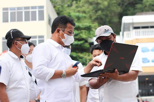Didampingi Kadis Bina Marga dan SDA, Rudi  Tinjau Pembangunan Jalan di Kecamatan Lubuk Baja