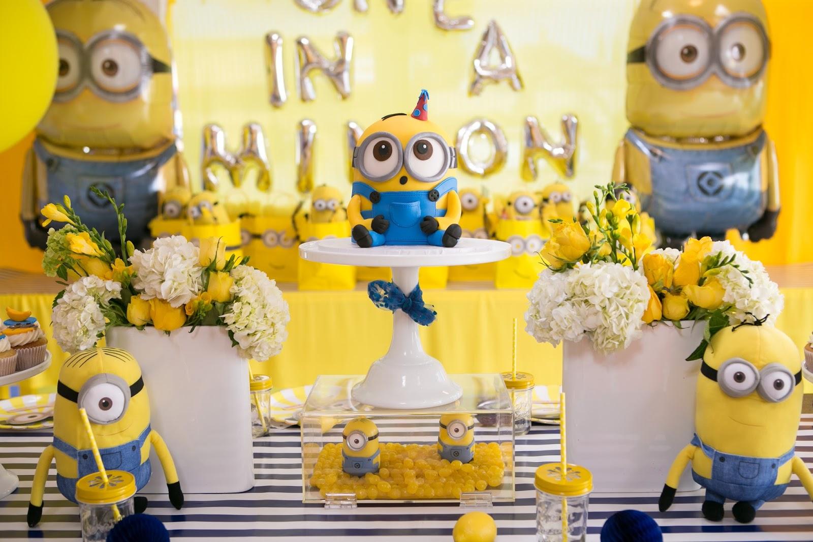 Minion Madness Blue Cupcake