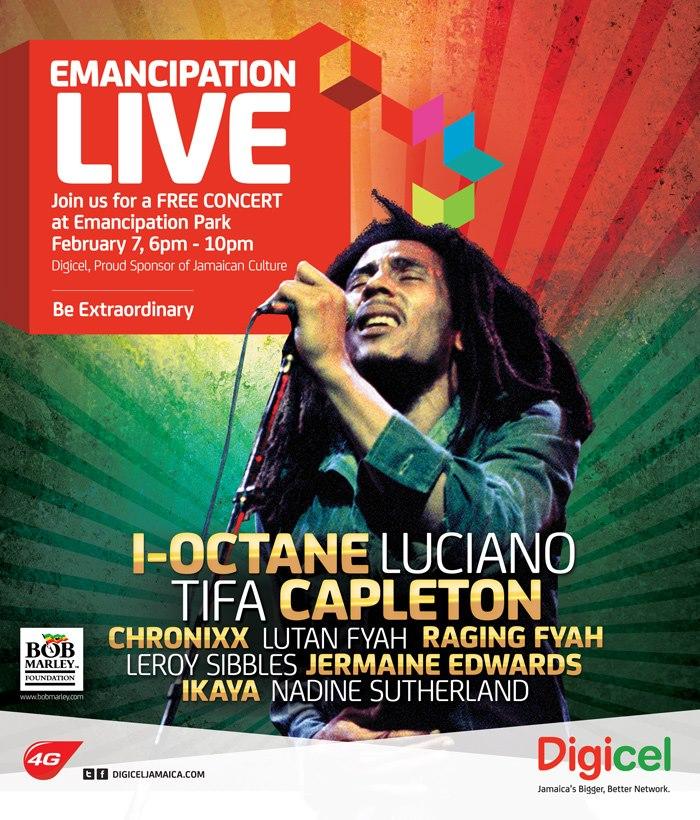 f519ddcc642b Jamaican Living Memoir  Emancipation Live   The Bob Marley Concert