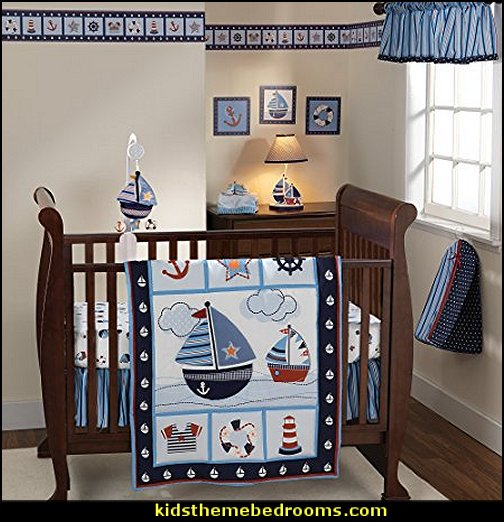nautical crib bedding - nautical baby bedrooms nautical baby decor - baby kids nautical decor - little girls nautical nursery - boys nautical nursery