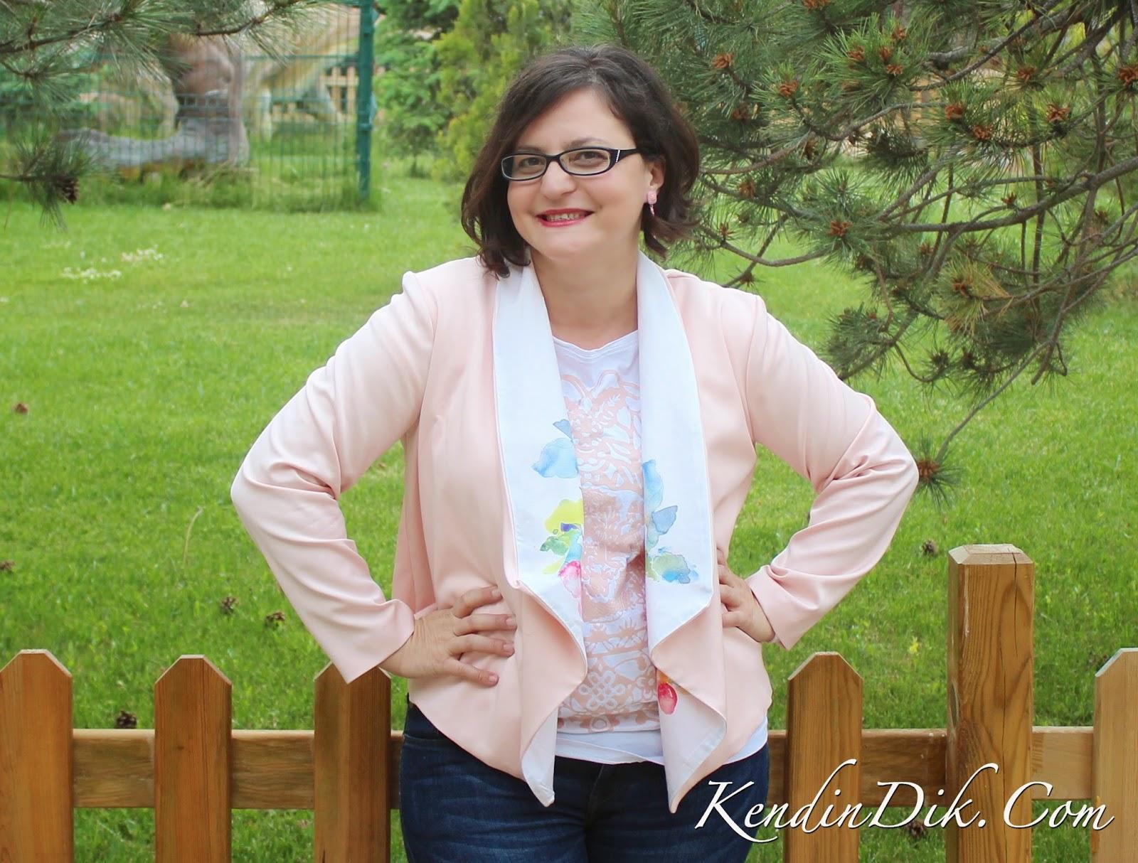 bahar modası pembe ceket