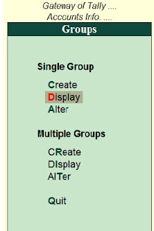 List of ledger under group in Tally ERP 9
