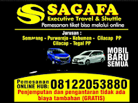 Jadwal Travel Sagafa Trans Semarang - Purwokerto PP