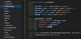 Membuat Aplikasi Web CRUD Toko Buku Menggunakan Code Igniter (Bagian II)