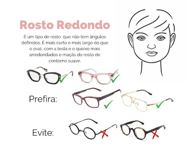 rosto redondo, tipos de óculos, tipos de rosto