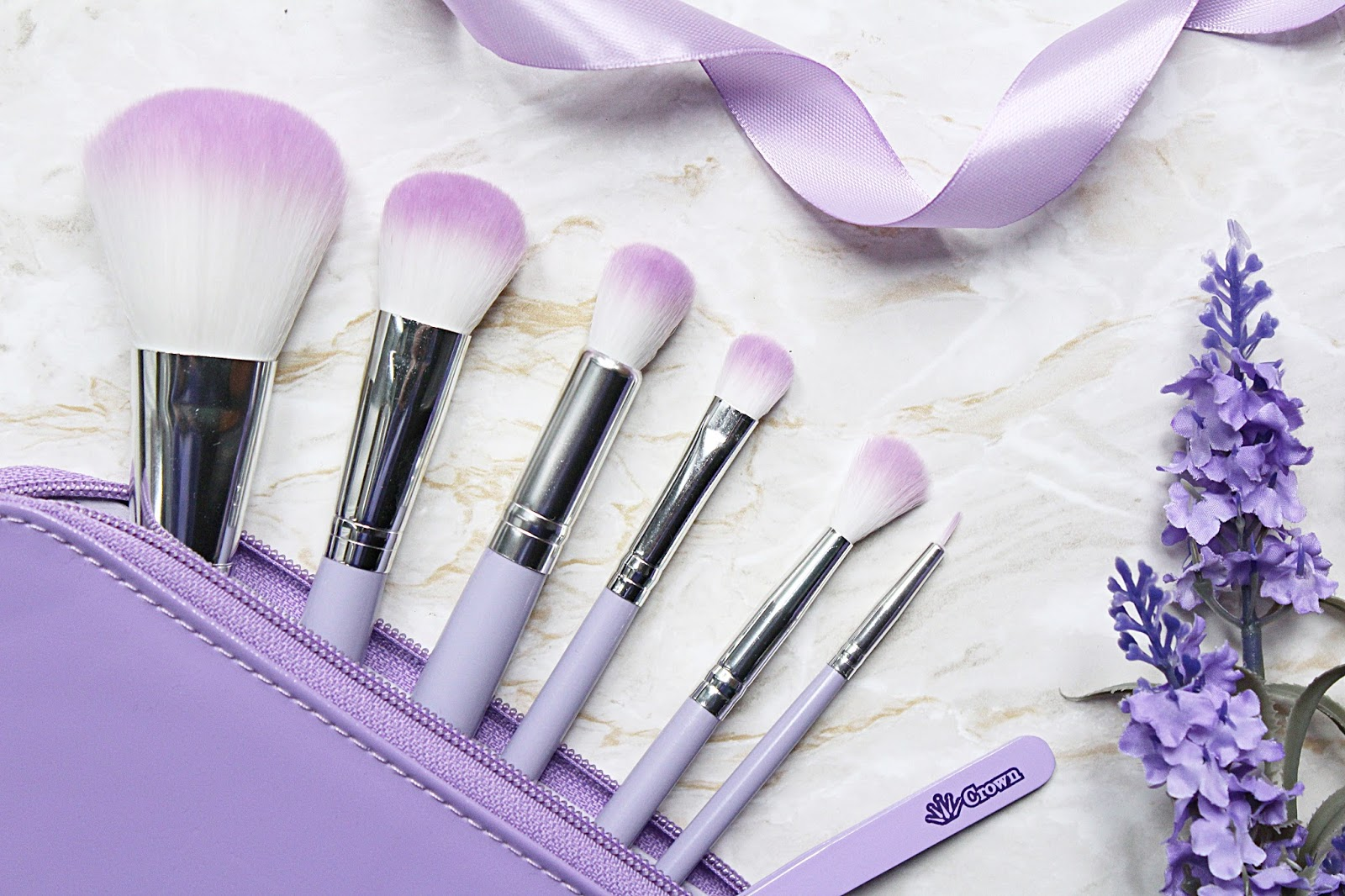 Crown Brush Purple HD Makeup Brush Set
