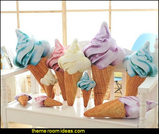 ice Cream cone Pillow candy bedroom decor candy themed room