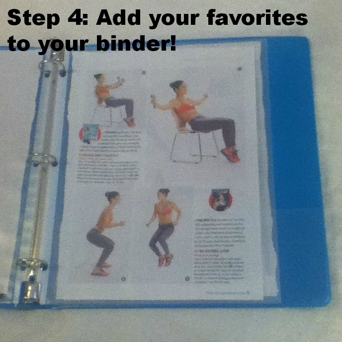 Tips From A Mom Of 3: DIY Fitness & Exercise Binder