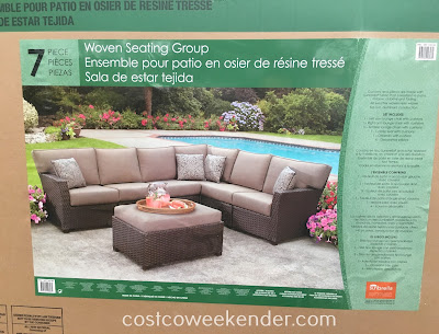 Costco 1031561 - Pacific Casual 7pc Woven Seating Group - great for any backyard or patio