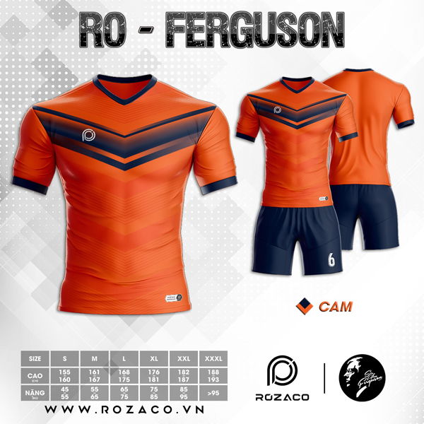 Áo Không Logo Rozaco RO-FERGUSON Màu Cam