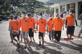 Polda Aceh, Pengungkapan Peredaran Narkotika Jaringan Internasional Seberat 353 Kg