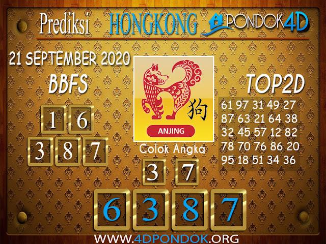 Prediksi Togel HONGKONG PONDOK4D 21 SEPTEMBER 2020