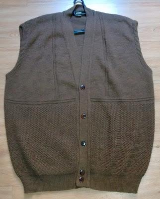 colete tricot bege masculino tam GG