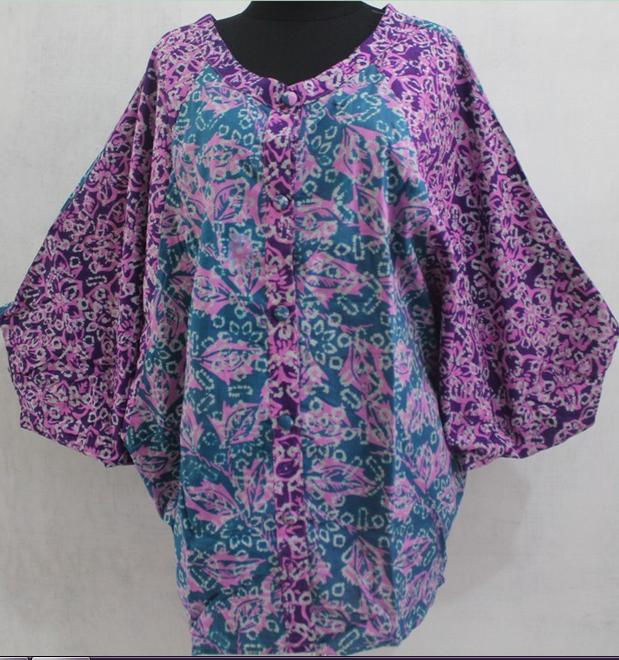 Model Baju Batik Kerja Untuk Tubuh Gemuk: Model Baju Atasan Batik Untuk Orang Gemuk