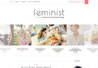 Feminist Simple Blogger Template Free Premium Version Download