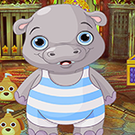 Games4King -  G4K Doleful Pretty Hippo Escape