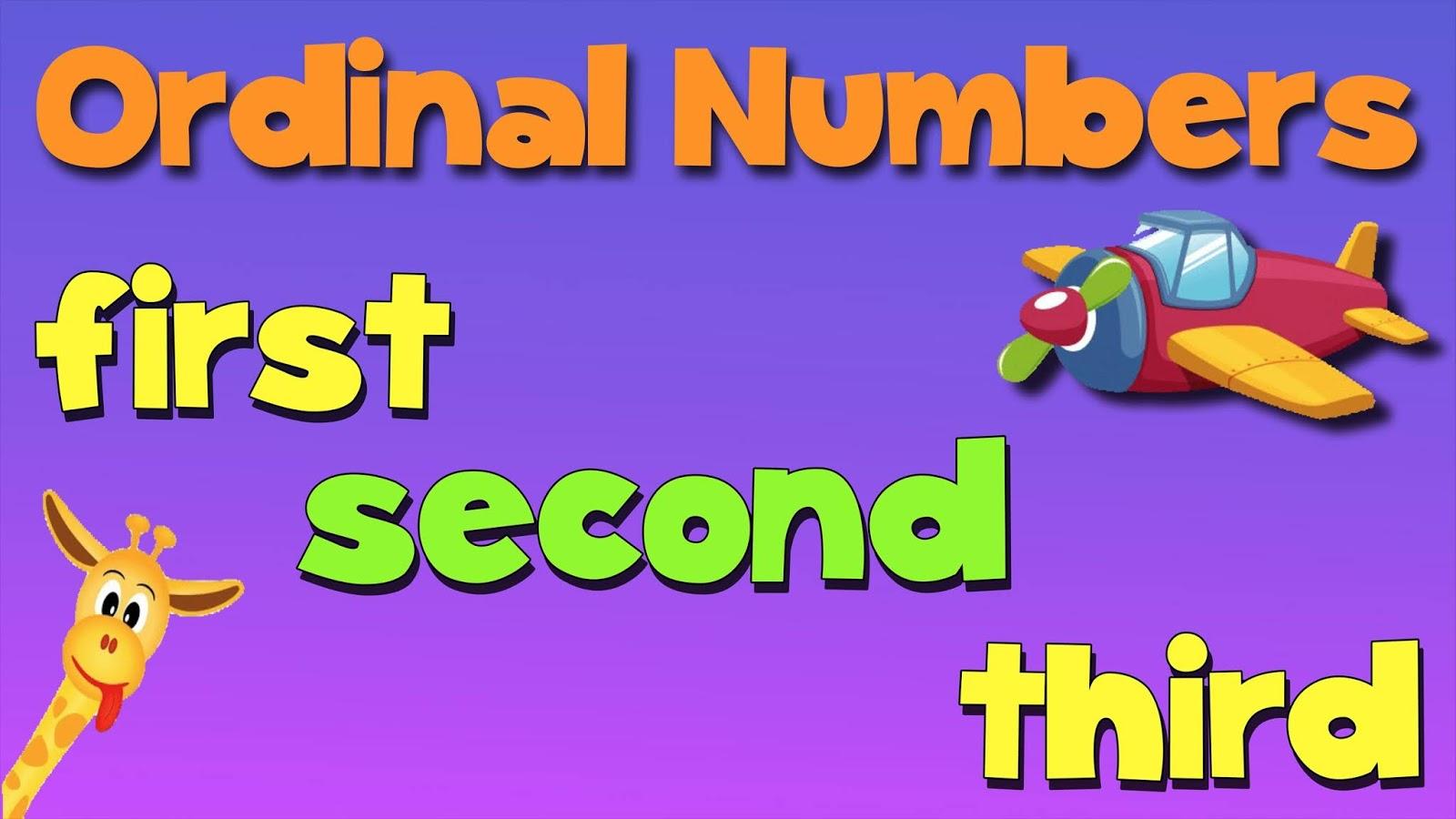 Ngilizce S Ra Say Lar Ordinal Numbers Gramat K