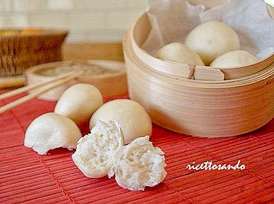 Pane cinese  a vapore o Mantou con lievito madre ricetta etnica