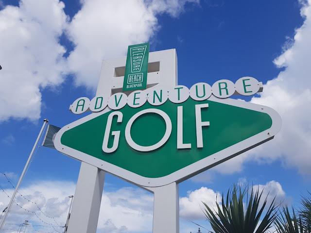 Adventure Golf at the Pleasure Beach in Blackpool