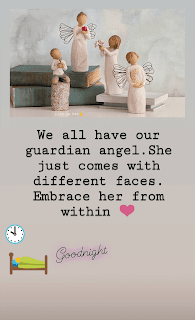 we all have our guardian angel.She just comes with different faces.Embrace her from within