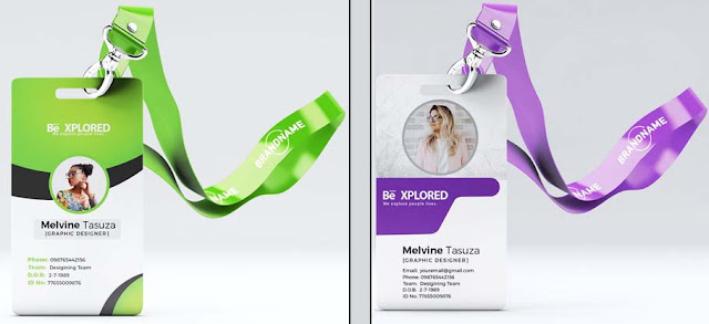 ID Card Design PSD