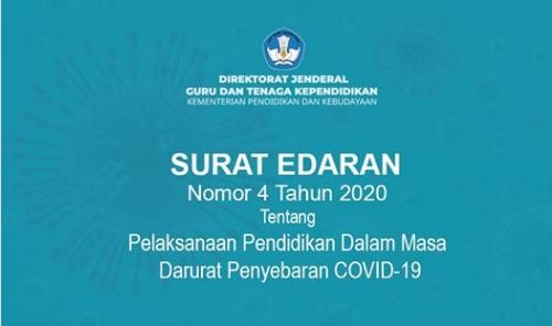 gambar surat edaran mendikbud nomor 4 thaun 2020