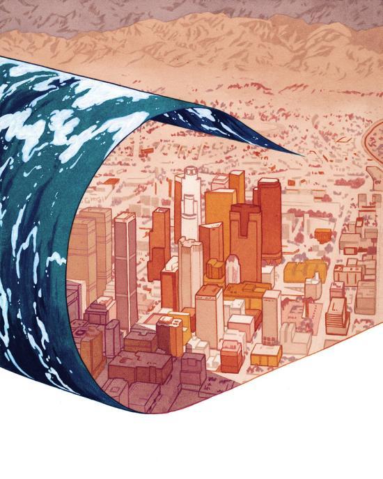 Leonardo Santamaria arte ilustrações surreais críticas sociais para revistas