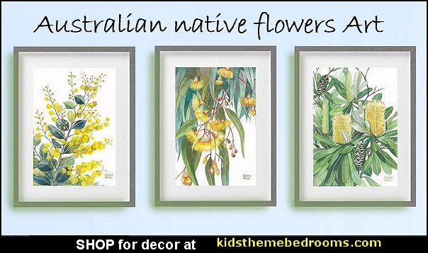 Australian native flowers art Australian native flowers prints Australian native flowers decorating
